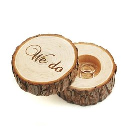 Wholesale Wedding Ring Pillow Wholesale - 2016 Hot Selling Fashion Rustic Ring Box New Rings Gifts Boxes Wooden Wedding Box For Rings