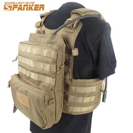 Wholesale Tactical Backpack Sizes - 3L Spanker Tactical Molle Portable Vest Hydration Pack Bike Bicycle Camel Water Bag Military Assault Backpack 1000D Nylon