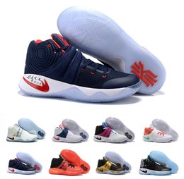 Wholesale Hottest Latex - Hot Sale 2016 Kyrie Irving 2 Men's Basketball Shoes Kyrie2 Champion Edition Grey Wolf Samurai Star Irving2 Sports Training Sneakers US 7-12
