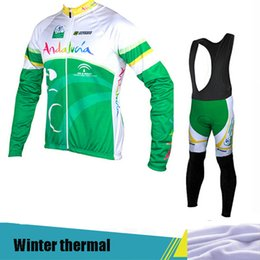 2017 cyclisme long jersey vert Ropa ciclismo winter hombre Hiver cyclisme cycliste jersey pro équipe vert vélo manches longues maillot bicicleta AW22 cyclisme long jersey vert pas cher
