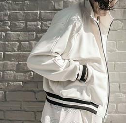 Wholesale Best Casual Coats Men - 2018 autumn winter best version high quality JUSTIN BIEBER zipper jacket hip hop OVERSIZE GD Fashion Casual jackets coat 4 color