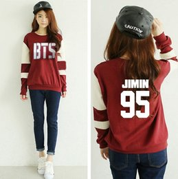 Wholesale Bts Album - Wholesale- Kpop Bangtan Boys BTS album concert same Spring autumn women Long sleeve Hoodies k-pop bts Official photo Tops Sweatshirts shirt