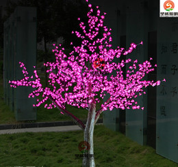 Wholesale Cherry Bulb Ships - LED Cherry Blossom Tree Light 1536pcs LED Bulbs 2m Height 110 220VAC Seven Colors for Option Rainproof Outdoor Usage Drop Shipping