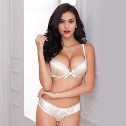 Wholesale Silk Bra Lingerie - New brand noble lace silk glossy bra sets underwear push up bras with sexy lingerie set, BS300