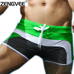 Wholesale White Nylon Swimwear For Men - Wholesale-Fashion Men Swimsuit Quality Swimming Trunks Swimwear for Men Boxers-Free shipping