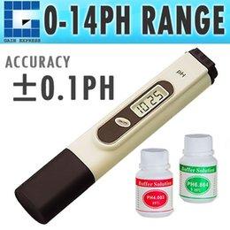 Wholesale Hydroponic Pen Ph Tester - PH-031 High Accuracy Handheld Digital Pen Type pH Meter Tester 2 Buffer Hydroponic Aquarium 0.00 - 14.00 pH Range + Built-in ATC