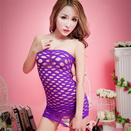 Wholesale Pink Sex Clothing - fishnet erotic lingerie sexy costumes sex clothes women negligee porn outfits female teddy bodysuit slutty dresses babydoll