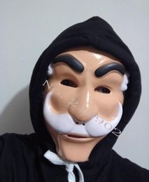 Wholesale Hacker Masks - Wholesale- Mr. Robot Fsociety Mask White Anonymous Team Evil Hacker Group V for Vague Recollection Evil Corp in Entertainment TV show