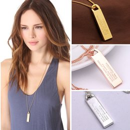 Wholesale Necklace Designs Letters - Top Quality Simple Stylish Women Unisex Jewelry 14K Real Gold Plated Geometry Pendant Necklace Long Sweater Chain Fashion Design Free Ship