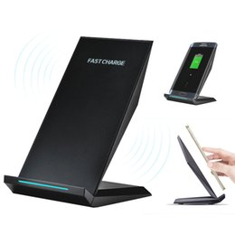 Wholesale Quick Car Battery Charger - M220 Stannd Wireless Charger Phone Stent Mini Fast Charging Battery Charger for iPhone 8 X Samsung Galaxy S7 Edge S8 S8 Plus