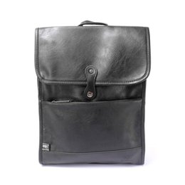Wholesale Leather Cycle Bags - NEW Women Men€s Bags Laptop PU Leather Vintage Male Backpack Travel School Daypack Sport Cycling Mochila Quality Rucksack