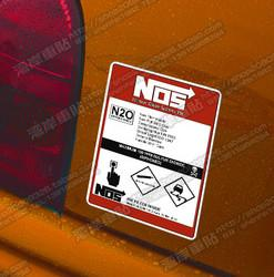 Wholesale Nos Stickers - High quality For Nos N2o Reflective car sticker and decals hellaflush fatlace cool modified accessories