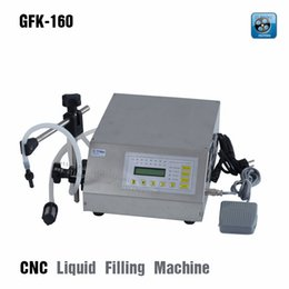 Wholesale Water Cnc - GFK-160 all stainless steel shell CNC liquid filling machine,Single chip microcomputer control water automatic filling machine