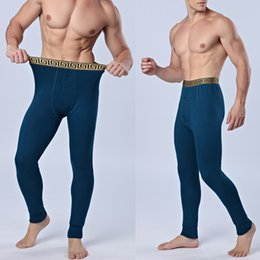 Wholesale Thick Print Leggings - Wholesale-MOKAWA New Men's Cashmere And Cotton Trousers Thick Warm Warm Leggings Cotton Trousers Long Underwear ,C30009