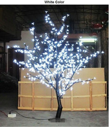 Wholesale Indoor Wedding Decor - 1.5m 5 Ft Height White LED Cherry Blossom Tree Outdoor  indoor Wedding Garden Holiday Light Decor 480 LEDs