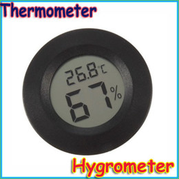 Wholesale Mini Digital Outdoor Thermometer - Wholesale-Free shipping Indoor & Outdoor Celsius Digital Mini Thermometer Humidity Hygrometer Meter