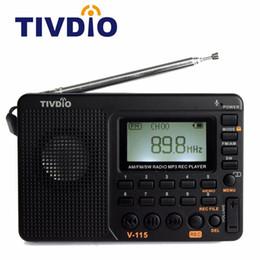 2019 nouvelle radio vw Radio haute qualité FM / AM / SW récepteur son basse Lecteur MP3 enregistreur de radio portable avec minuterie d'arrêt