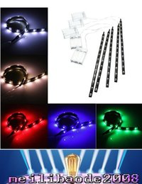 Wholesale Blue Led Strip Battery Operated - 2016 hot arrivals 30CM 12 LED 3528 SMD Waterproof Flexible Strip Tape Light Car Auto Decor Lamp Battery Operated White Red Blue Green MYY36