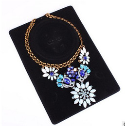 Wholesale Necklace Packaging Cards - Packing Jewelry Necklace Display Card Black velvet stereo neck card 17*23cm packaging card
