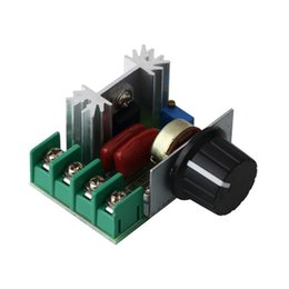 Wholesale Tracking Voltage Regulator - In stock! 2000W 220V AC SCR Electric Voltage Regulator Motor Speed Control Controller Newest Free shipping <US$10 no tracking