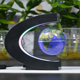Wholesale Christmas C Led Lights - Floating Globe with LED Lights C Shape Magnetic Levitation Floating Globe World Map 3 Inches for Home Office Decoration, Learning & Teaching