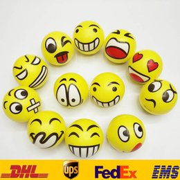 Farbkugeln online-QQ Expression Funny Ball Toys 6.3cm Children Face QQ Hand Painted Porcelain Emotional Chirstmas Party Gifts HH-T29