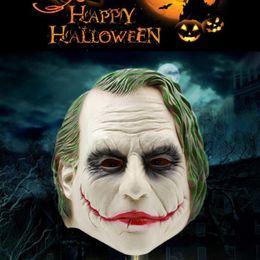 Wholesale Adult Joker Costumes - Joker Mask Realistic Batman Clown Costume Halloween Mask Adult Cosplay Movie Full Head Latex Party Mask