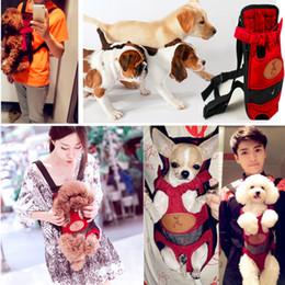 Wholesale Dog Carrier Medium Front - Red Pet Supplies Dog Cat Carrier Chest Pack Front Backpack Portable Knapsack