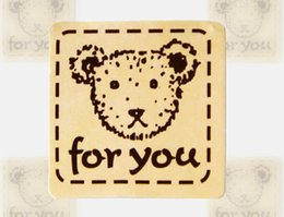 Wholesale Teddy Bears Stickers - Cute teddy bear the seal sticker FOR YOU with a stick decorative stickers gifts free shipping HY1242