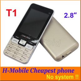 Wholesale Cheap Quad Band Unlocked Phones - H-Mobile T1 2.8 Inch Cheap Mobile Phone Dual Sim Quad Band 2G GSM Phone Unlocked Back Camera with Flashlight Bluetooth FM MP3 Free shipping