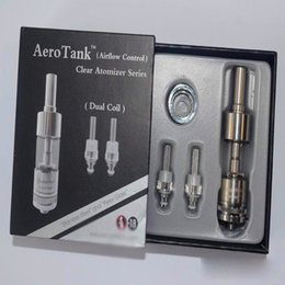 Wholesale X9 Atomizer Coil - Kanger Aerotank Clearomizer upgraded Dual Coil Atomizer Adjustable Air Flow Bottom Coil Clearomizer fit x6 x9 battery