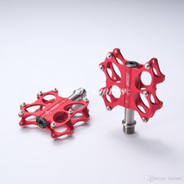 Wholesale Mtb Aluminum Pedals - Aest Bike MTB BMX Ti Axle Super Light Pedals 170g pair CNC Titanium Spindle Ti Axle red Ultralight foot