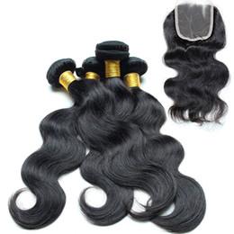 Wholesale Goddess Hair Wholesale - Maylasian body wave hair with Closure 4bundle great lengths hair extensions 100% Unprocessed Human Virgin Hair goddess hair weave wholesale