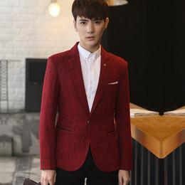 Wholesale Mens Suit Jacket Pattern - Men blazer jacket mens red blazers Slim fit masculine retro suit jacket pattern Casual cotton fashion hombre Spring Autumn 2018