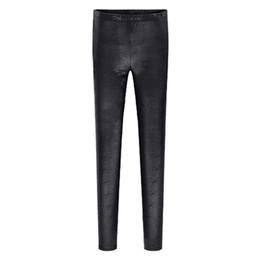 Wholesale Plus Size Velvet Leggings - 6XL Plus Size Clothing Women Thin Velvet Leggings 2016 Spring Autumn New Fashion Snakeskin Leggins Ankle Length Boot Cut Trouser