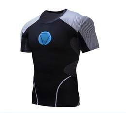Wholesale Animal T Shirts Bodybuilding - Iron man T shirts Superhero 3D T-shirts Fitness Men Tops Compression Crossfit 2018 Printed Bodybuilding Summer Slim ZOOTOP BEAR