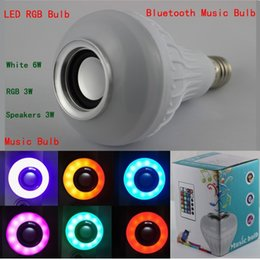 Wholesale Music Suppliers - Factory Supplier Cheap Price 20pcs lot 12W E27 LED RGB Bluetooth Speaker Bulb Music Playing & RGB Light lamp with Remote Control