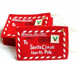 2019 sacchetto di busta del tessuto Busta natalizia per regali di Babbo Natale sacchetto di busta del tessuto economici