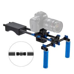 Wholesale System Soft - Portable FilmMaker System With Camera Camcorder Mount Slider, Soft Rubber Shoulder Pad and Dual-hand Handgrip For All DSLR Video Cameras DV