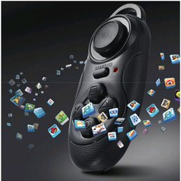 Wholesale Stickers Tablet Pc - Free Shipping Universal Bluetooth Wireless Joystick Game Gaming Controller For Gampad Smart Phone Tablet Pc