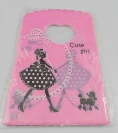 Wholesale Girls Shops - Free Shipping New 500pcs Shopping girl Plastic Packing Gift Bag 15x9cm HOT