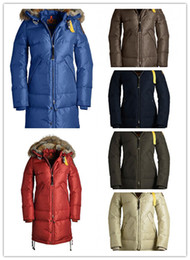 Wholesale Latest Jacket Zippers - 2017 Latest Top Copy Brand Women's Long Bear Long Parka Down Jacket Winter With Hoodie Fur Arctic Coat Cheap Outlet Factory
