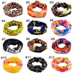 Wholesale Black Cream Scarf - Riding Bicycle Motorcycle Headscarf Variety Turban Novelty Bandanas Magic Headband Headband Multi Head Scarf Scarve 2503067