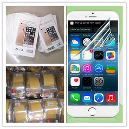Wholesale Top Iphone Stickers - Clear Film Screen Protector Top Quality Anti-shatter Guard Protectors Sticker Film With clean cloth For Iphone 6 6s 7 Plus 4s 5s SE