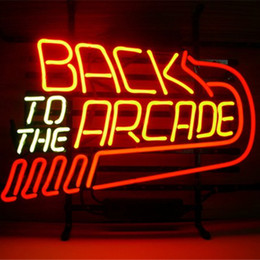 Wholesale arcade lights - Arcade Sign DIY Glass LED Neon Sign Flex Rope Light Indoor Outdoor Decoration RGB Voltage 110V-240V
