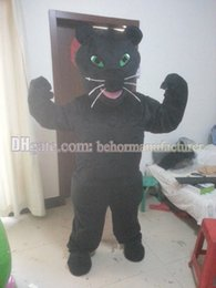 Wholesale Black Panther Mascot - Mighty cute plush black panther mascot suit free shipping, Panthers mascot costume.