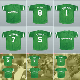 Wholesale Red Blue Song - Hardball 8 Jermaine Dupri 1 Lil' Bow Wow 7 Lil Wayne 5 Sammie Theme Song Jersey Throwback High Quality Free Shipping Baseball Jerseys
