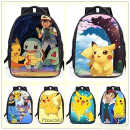 Wholesale Wholesale Pikachu Animal Backpacks - New cute cartoon backpack fashion backpack children Leisure backpack pikachu backpack student school bags wholesale
