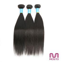 Wholesale Brazilian Hair 3pc - Brazilian Hair Human Hair Weave 3PC Hair extensions Peruvian Hair Bundles Straight Human Hair Double Weft MOSTOhair product