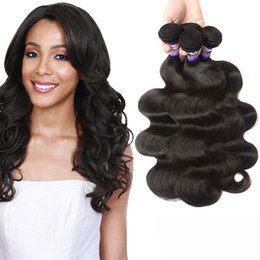 Wholesale Buy Human Hairs Colors - Peruvian hair Body Wave bundles 100% Remy human hair extensions Can Buy 3 or 4 Bundles Natural Hair Weave